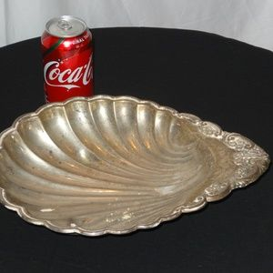 Lightweight Silverplated Shell Serving Dish 13""